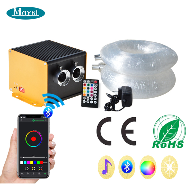 800 stars fiber optic light with APP control  remote control