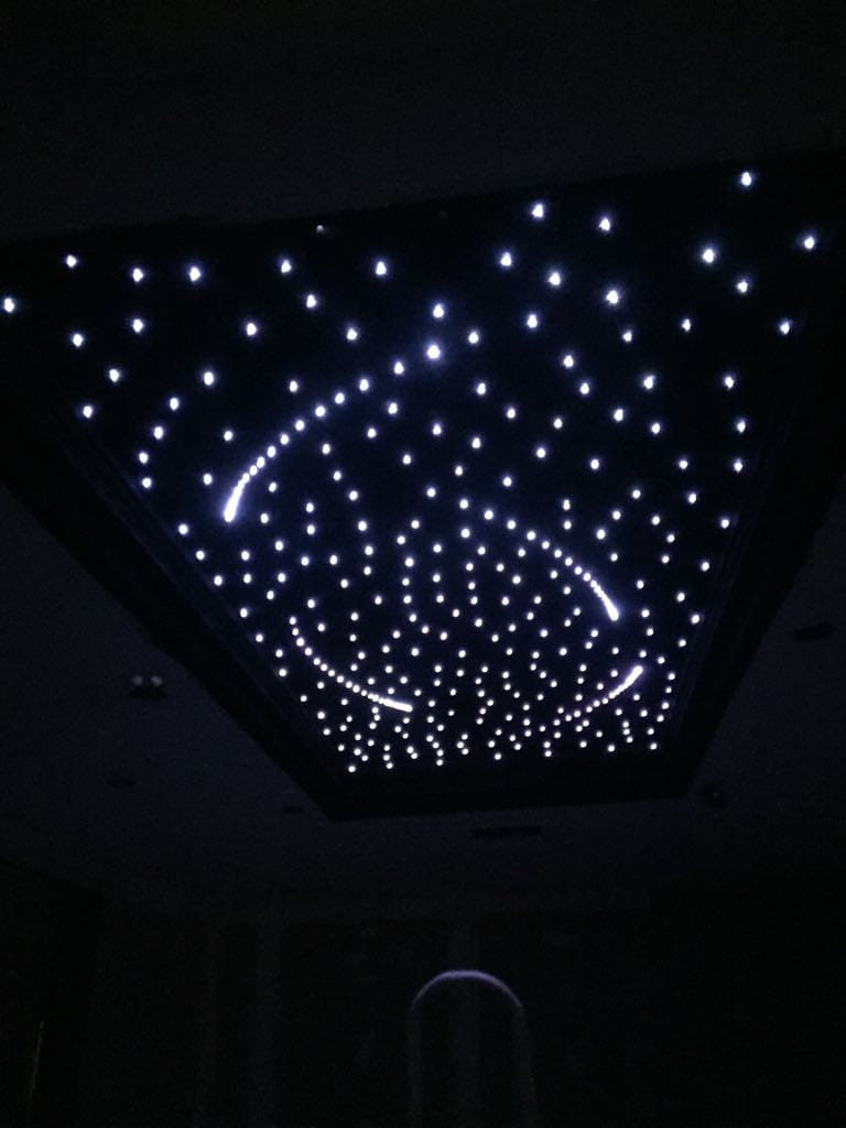 fiber optic light project - designed by Hanif - State of Kuwait